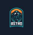astronaut esport gaming mascot logo template vector image