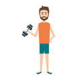 athletic man weight lifting character vector image vector image