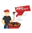 BBQ cooking vector image vector image