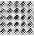 black and white diagonal square pattern background vector image vector image