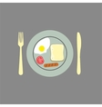 Breakfast background vector image vector image