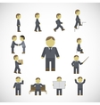 Business man activities icons set vector image vector image