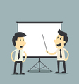 businessman presenting blank board vector image vector image