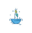 candle icon design vector image vector image