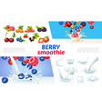 cartoon berry smoothies concept vector image vector image