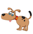 Cartoon dog silly face vector image