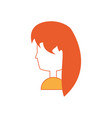 cartoon woman head icon vector image