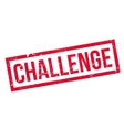 Challenge rubber stamp vector image