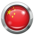 China flag metal button vector image vector image