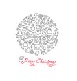 christmas background doodle winter christmas vector image vector image