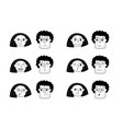 couple with various emotions portrait man woman vector image