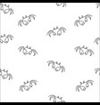 crab seamless pattern vector image vector image