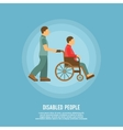 Disabled person poster vector image vector image