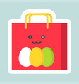 easter bag icon easter and spring flat sticker vector image vector image