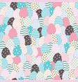easter eggs seamless pattern holiday background vector image