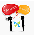 feedback vector image vector image