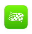 finish flag icon green vector image vector image