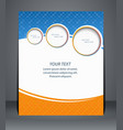 flyer design template or a magazine cover vector image