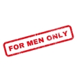 For Men Only Text Rubber Stamp vector image vector image
