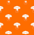 forest mushroom pattern seamless vector image vector image