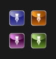 fountain pen icon on colored square buttons vector image