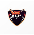 fox shield e sport logo icon vector image vector image