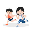 girl and boy attractive jogging vector image vector image
