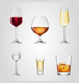 glass wine beer alcohol beverage drink bar vector image vector image