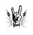 hand rock and roll composition vector image