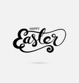 happy easter hand drawn typographical design vector image vector image