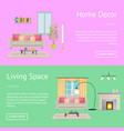 home decor and living space vector image vector image