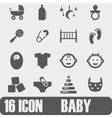 Icon BABY On white background vector image vector image