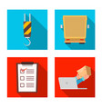 isolated object of goods and cargo sign set of vector image vector image