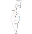 Israel Black White Map vector image