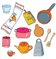 kitchen accesories vector image vector image