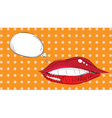 lips pop art vector image vector image