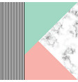 marble texture design with geometric shapes vector image vector image