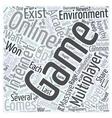 massive multiplayer gaming communities word cloud vector image vector image