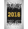 New Year 2016 Black and gold falling confetti vector image
