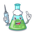 nurse science beaker character cartoon vector image