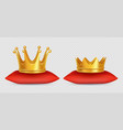 realistic gold crowns king and queen vector image vector image