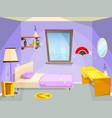 room for girl house bedroom for girl kid children vector image