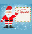 santa claus character showing merry christmas vector image vector image