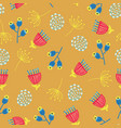 scandinavian flowers seamless background vector image vector image