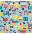 Seamless Film and Cinema Background Design vector image vector image