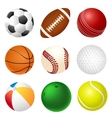 set balls vector image