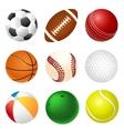 set balls vector image vector image