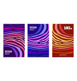 set bright vertical abstract poster color strips vector image