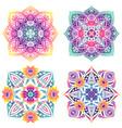 set four mandalas floral elements gradient vector image vector image