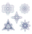 set watermarks 5 complex guilloche rosettes vector image vector image